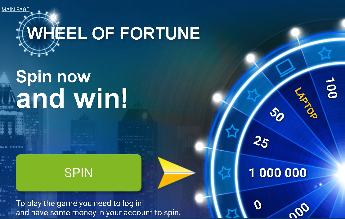 1xBet casino money wheel