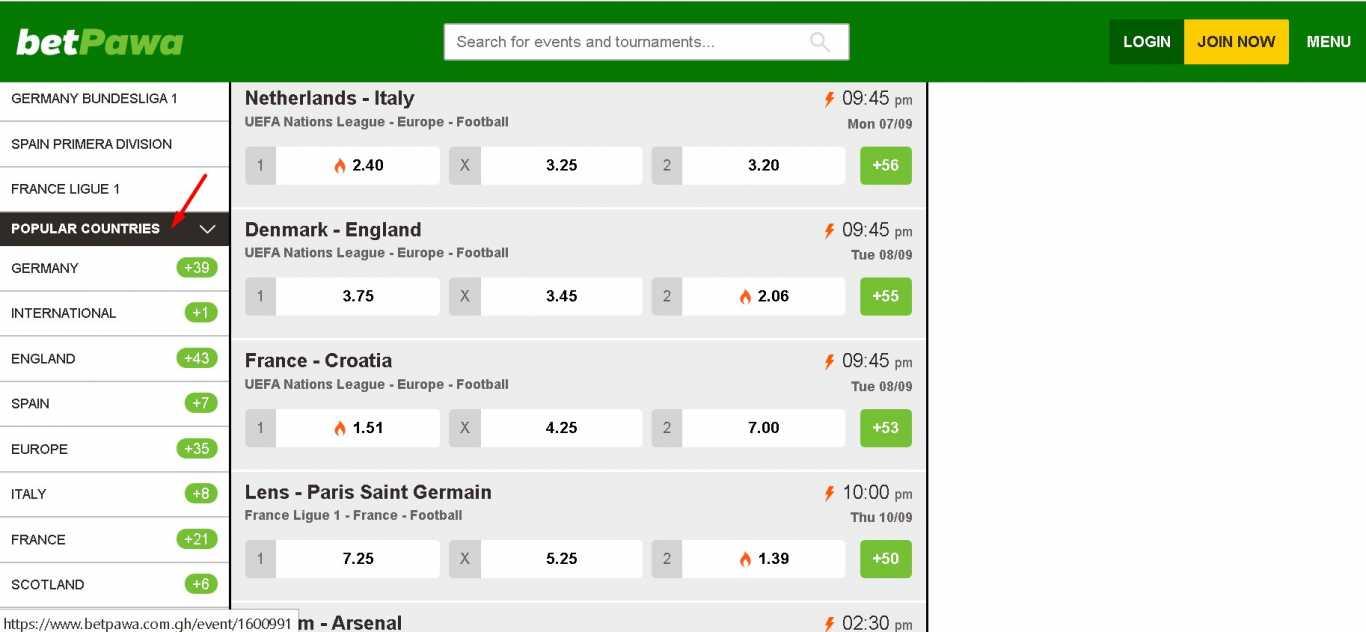 Betpawa online betting countries