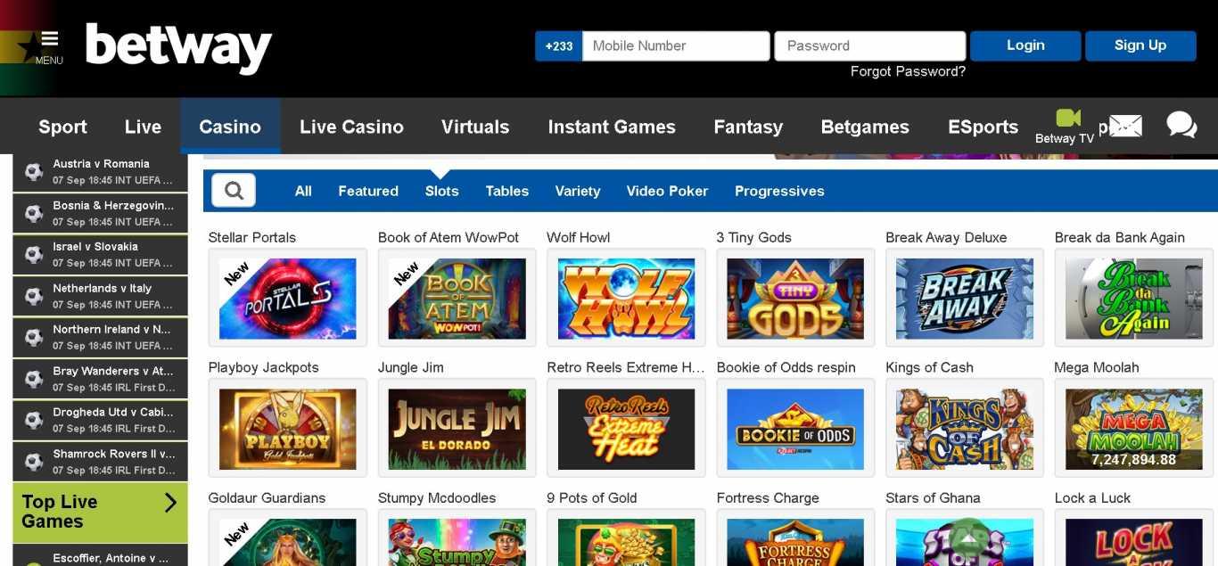 casino Betway slots