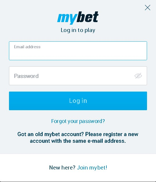 login Mybet