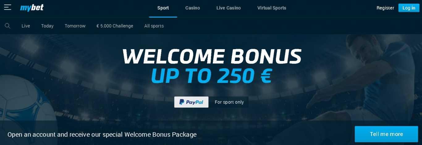 My bet welcome bonus