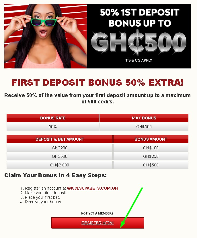 Supabets registration bonus